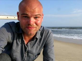 Der letzte Eintrag am Strand von Pointe Noire; 4.4.