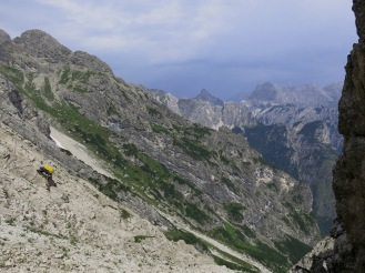... und das Ende einer etwas halbstündigen Klettepassage